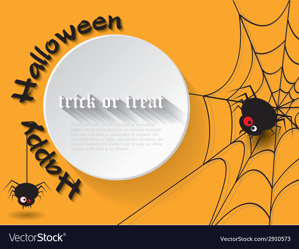 Abstract background for halloween with spider vector | Price: 1 Credit (USD $1)