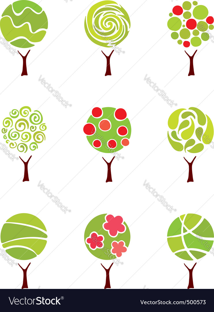 Abstract trees vector | Price: 1 Credit (USD $1)