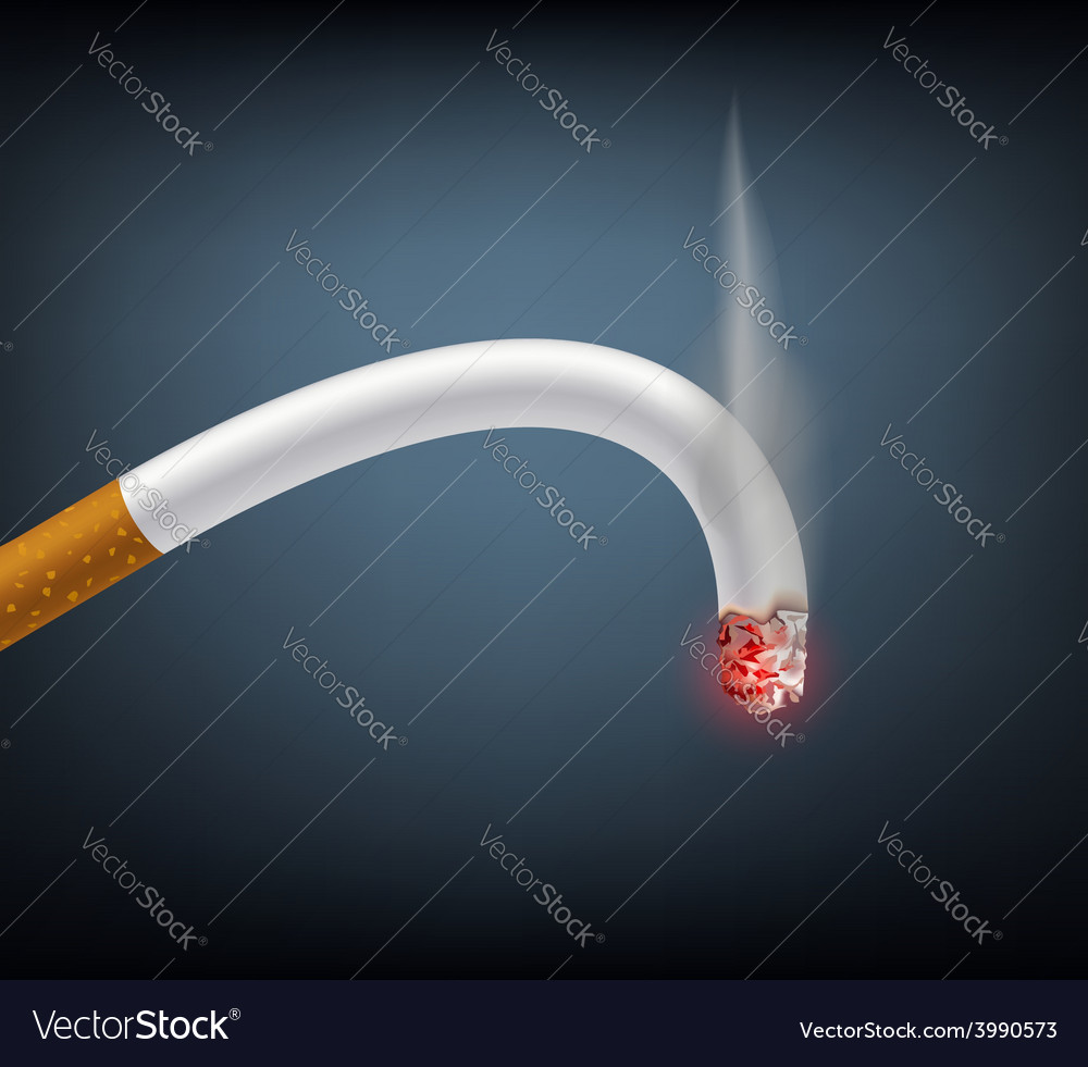 Bent cigarette meaning impotence vector | Price: 1 Credit (USD $1)