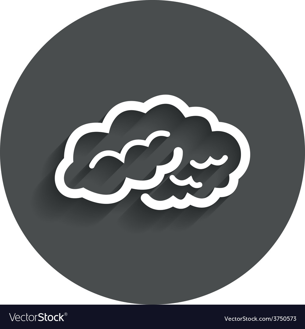 Brain sign icon intelligent smart mind vector | Price: 1 Credit (USD $1)