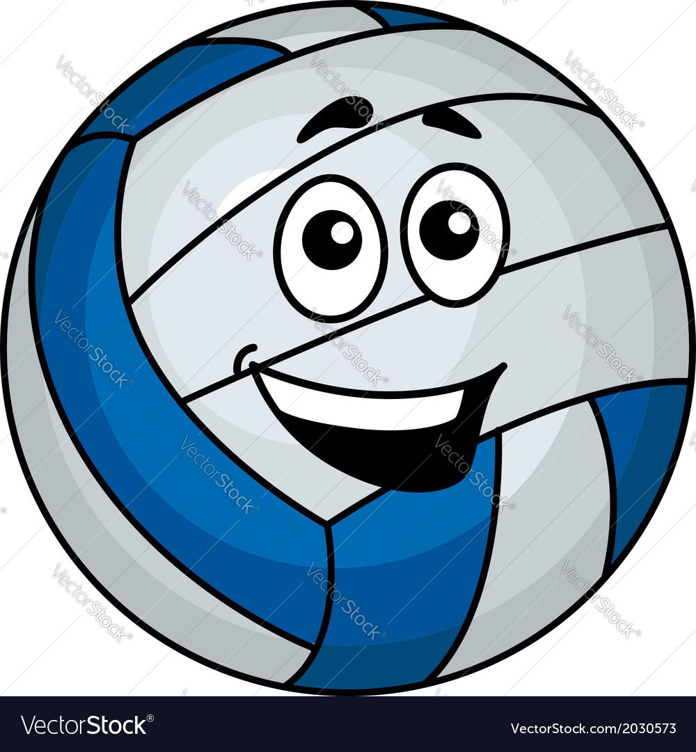 Cartoon volleyball ball vector | Price: 1 Credit (USD $1)