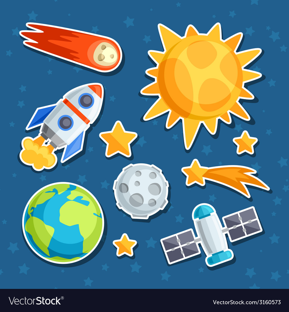 Cosmic icon set of solar system planets and vector | Price: 1 Credit (USD $1)