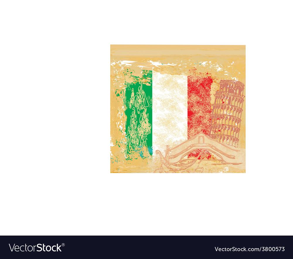 Grunge background symbols of italy - gondola and vector   Price: 1 Credit (USD $1)