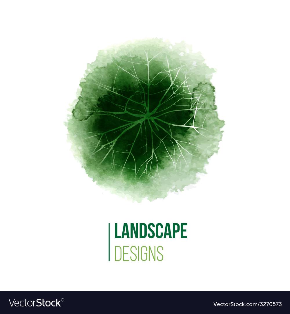 Hand drawn landscape design logo vector | Price: 1 Credit (USD $1)