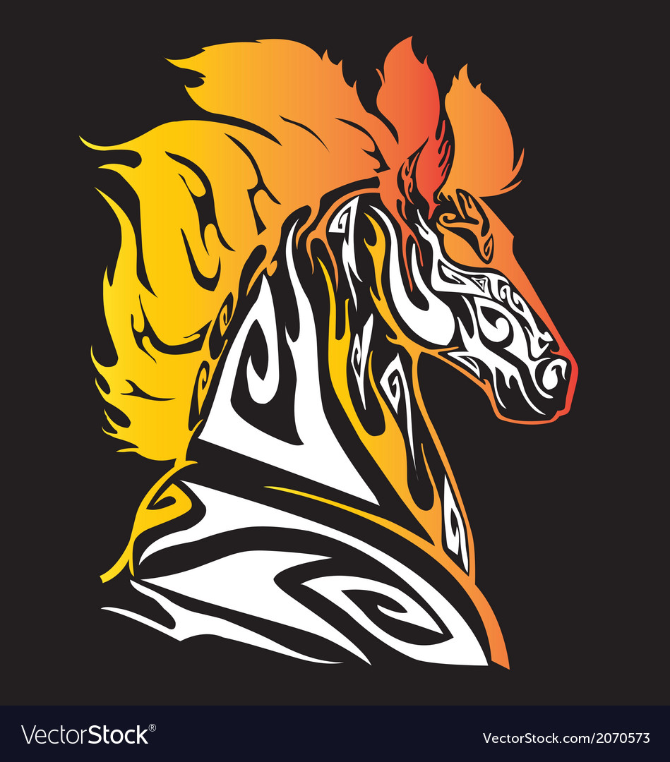 Head of zebra tribal art vector | Price: 1 Credit (USD $1)