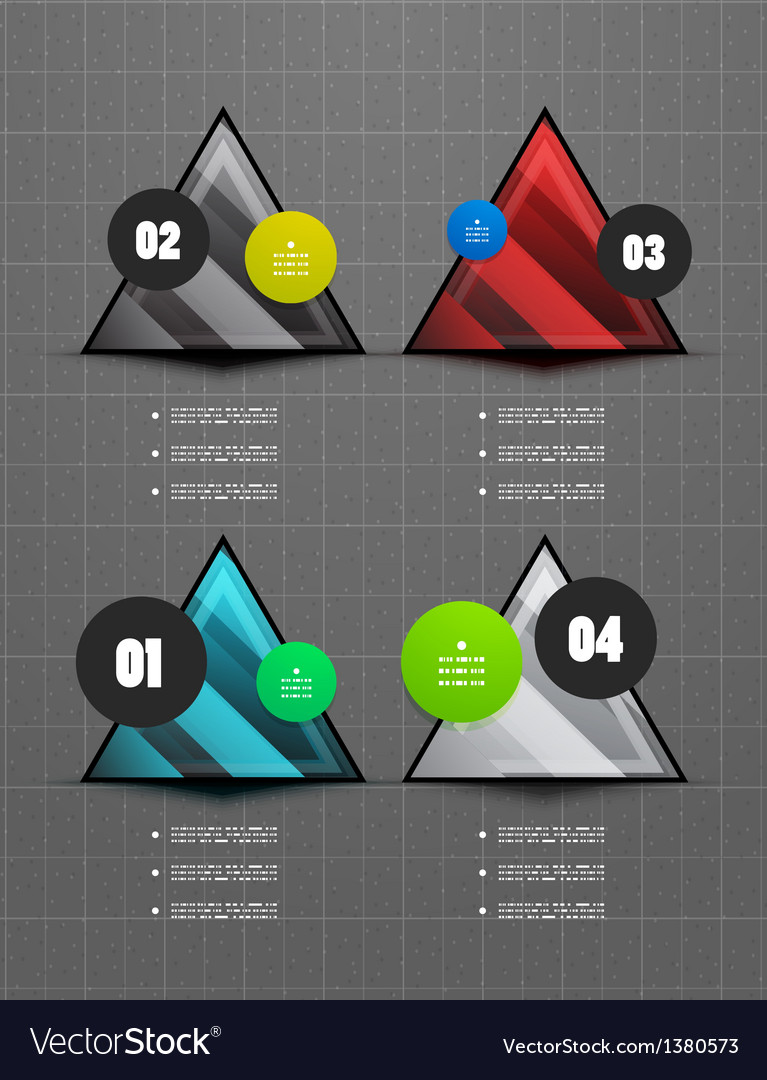 Infographics geometrical steps option banner vector | Price: 1 Credit (USD $1)