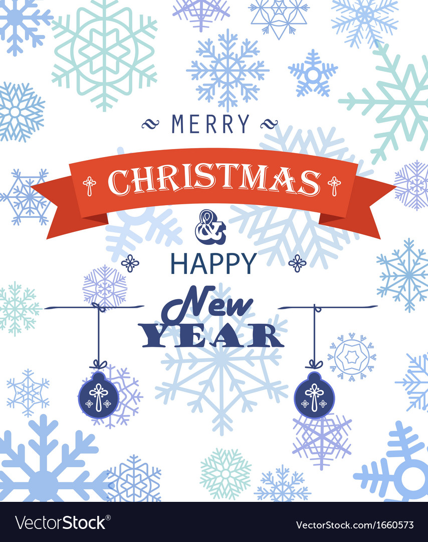 Merry christmas greeting card vector | Price: 1 Credit (USD $1)