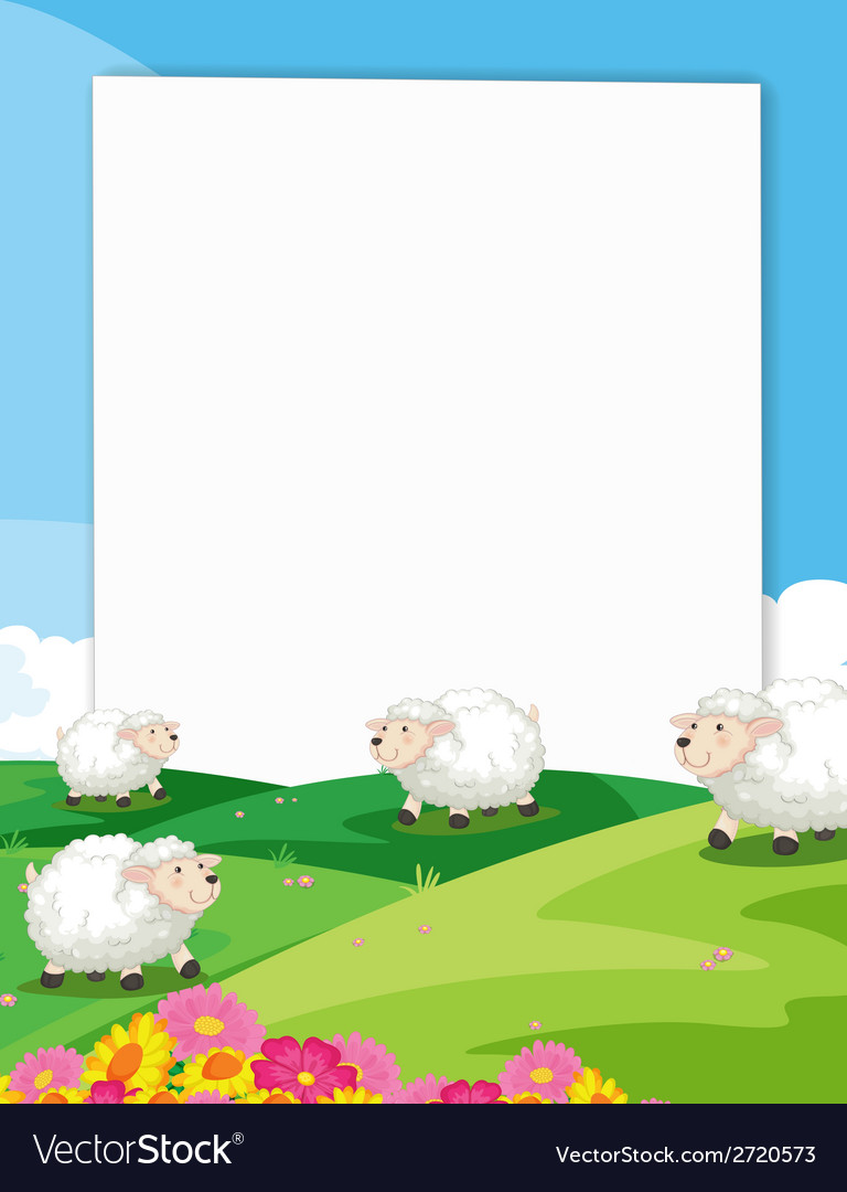 Sheeps banner vector | Price: 1 Credit (USD $1)