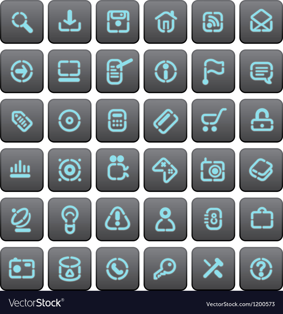 Stencil buttons for websites vector | Price: 1 Credit (USD $1)