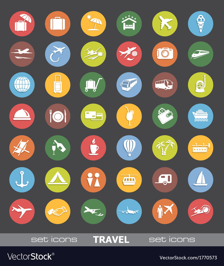 Travel icons vector   Price: 1 Credit (USD $1)