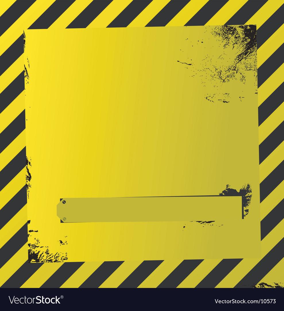 Yellow warning quad vector | Price: 1 Credit (USD $1)