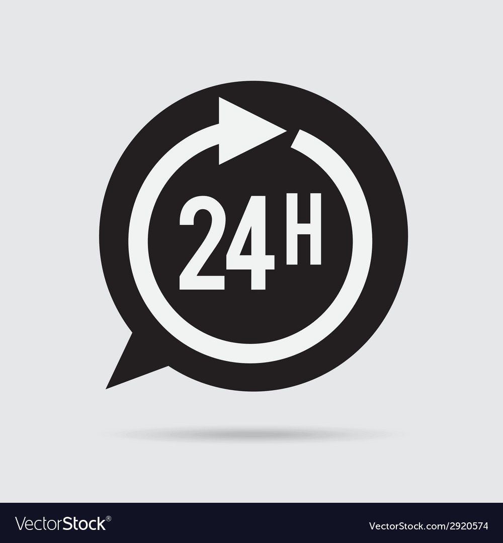 24 hours vector | Price: 1 Credit (USD $1)