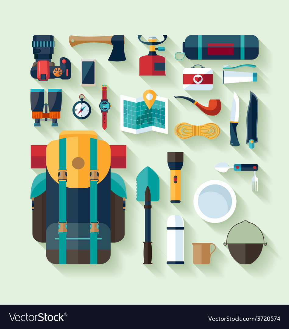 Camping equipment vector   Price: 1 Credit (USD $1)