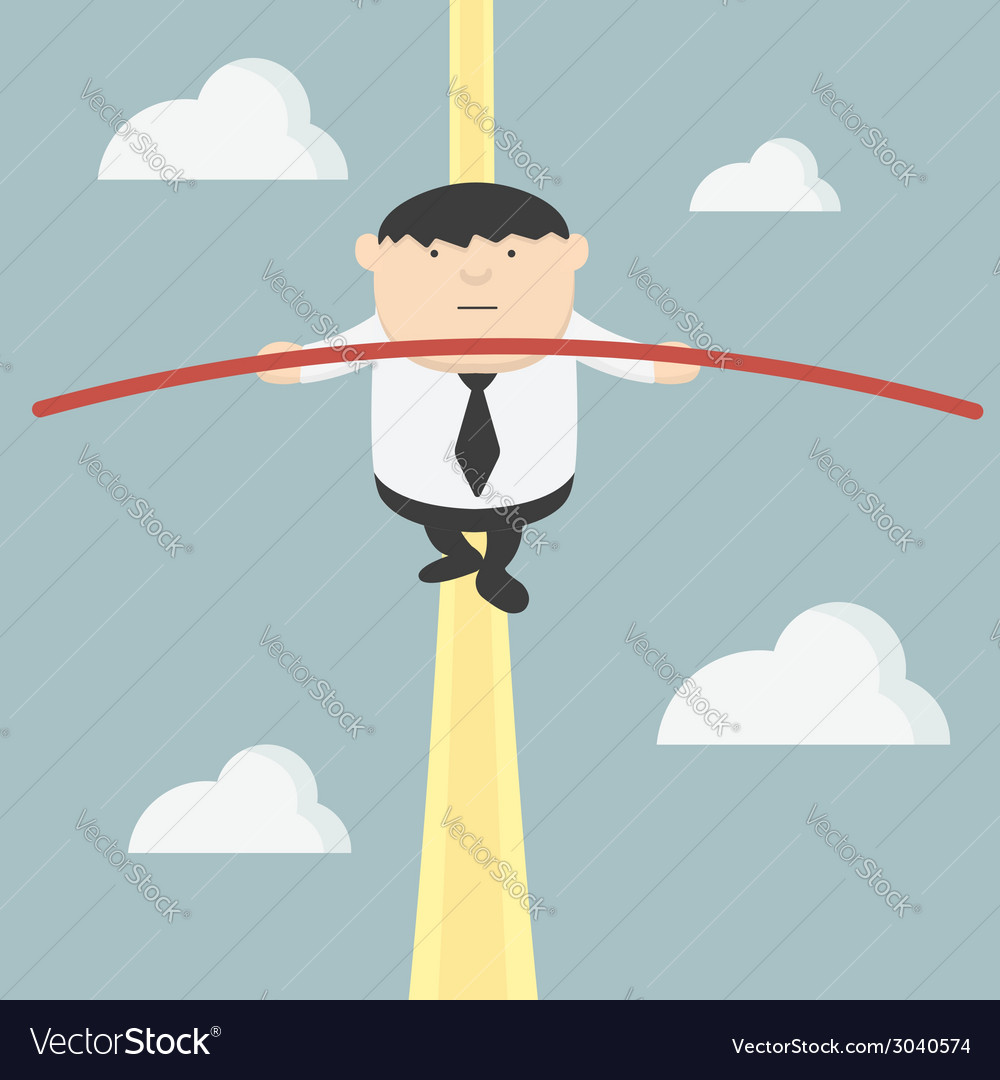 Fat businessman acrobats vector | Price: 1 Credit (USD $1)
