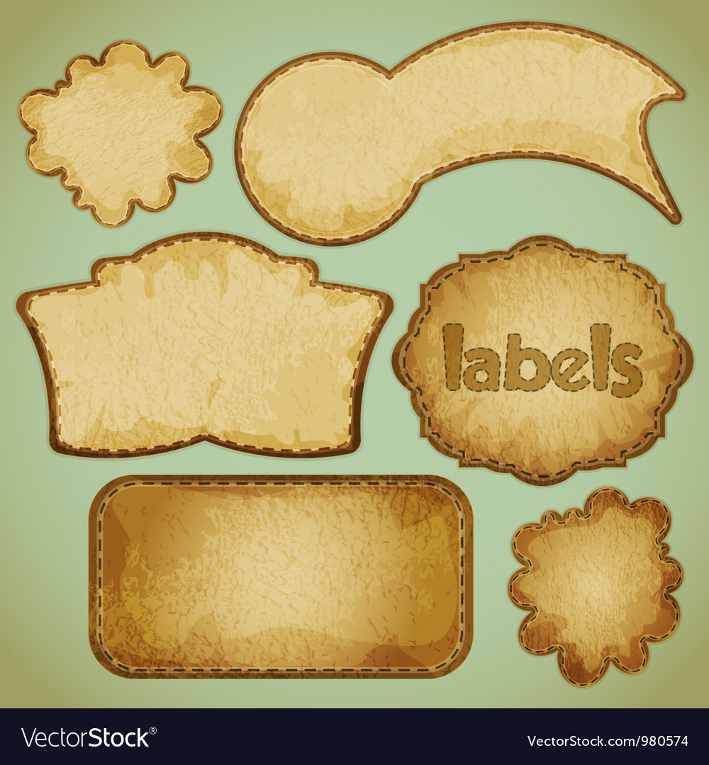 Labels retro vector