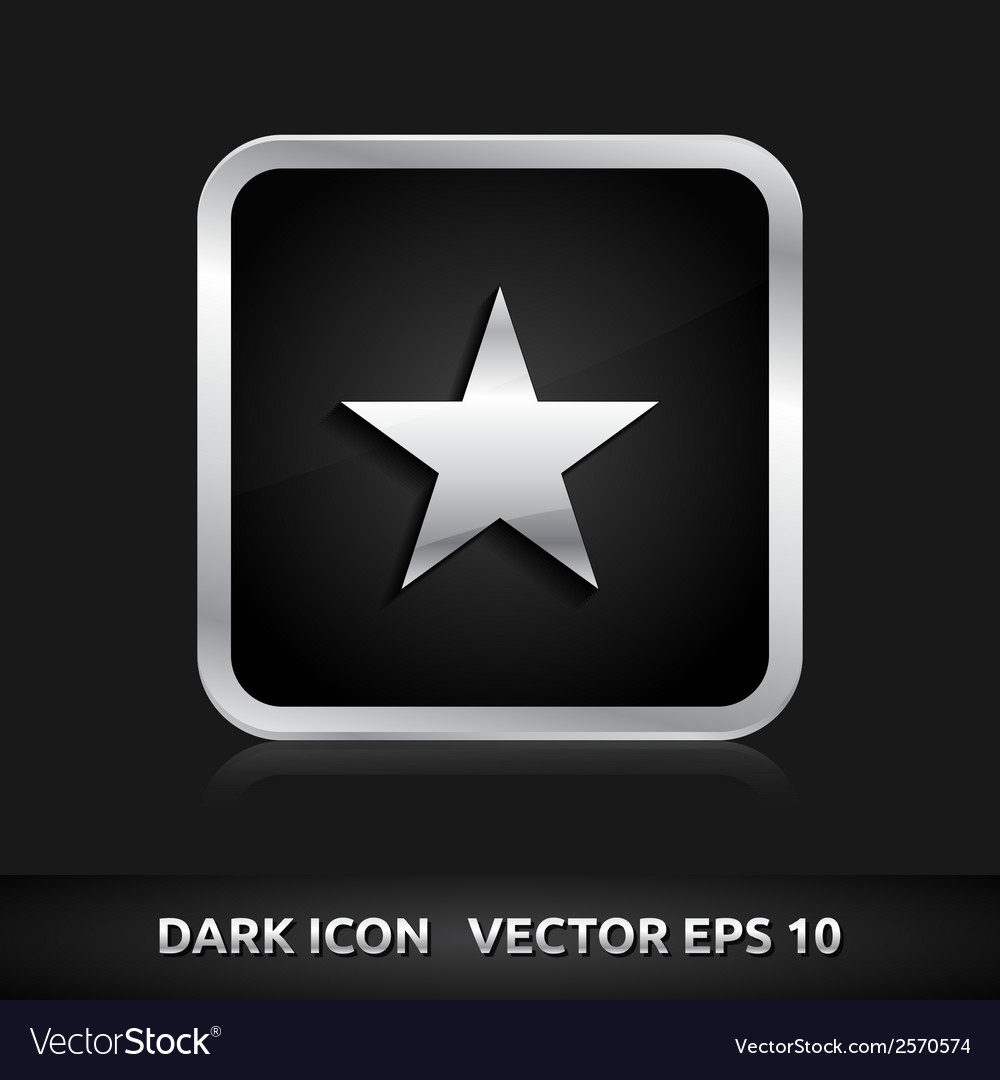 Star favorite icon silver metal vector | Price: 1 Credit (USD $1)