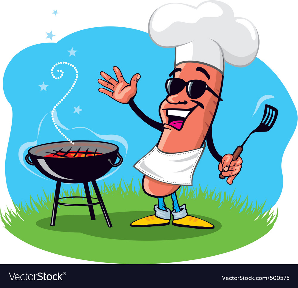 Barbecue hot dog vector | Price: 3 Credit (USD $3)