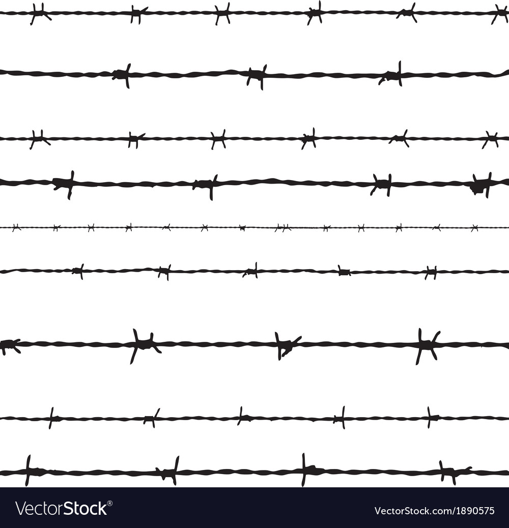 Barbed wire seamless background vector | Price: 1 Credit (USD $1)