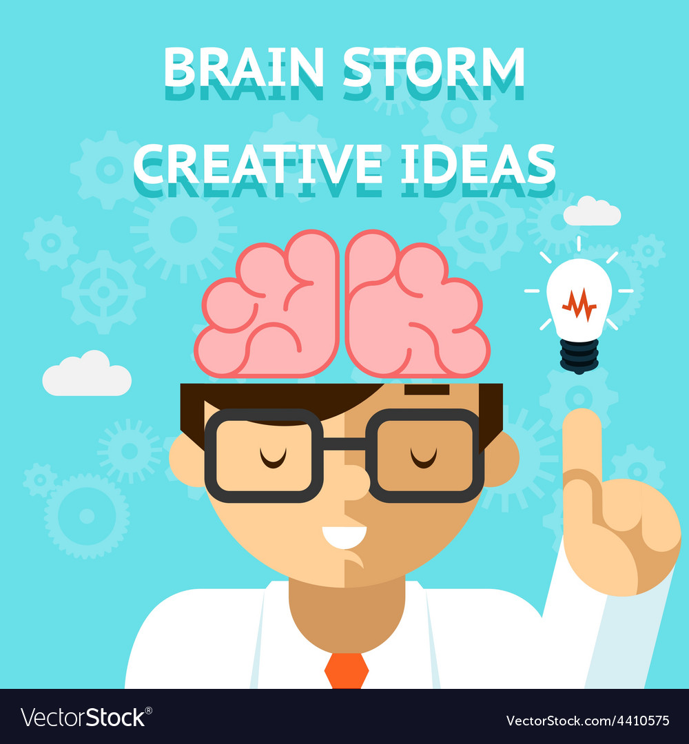 Brain storm creative idea concept vector | Price: 1 Credit (USD $1)