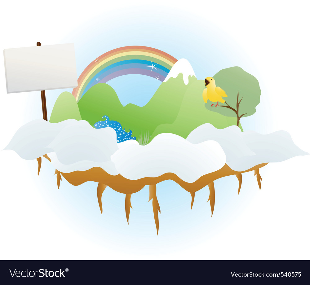Cloud land vector | Price: 1 Credit (USD $1)