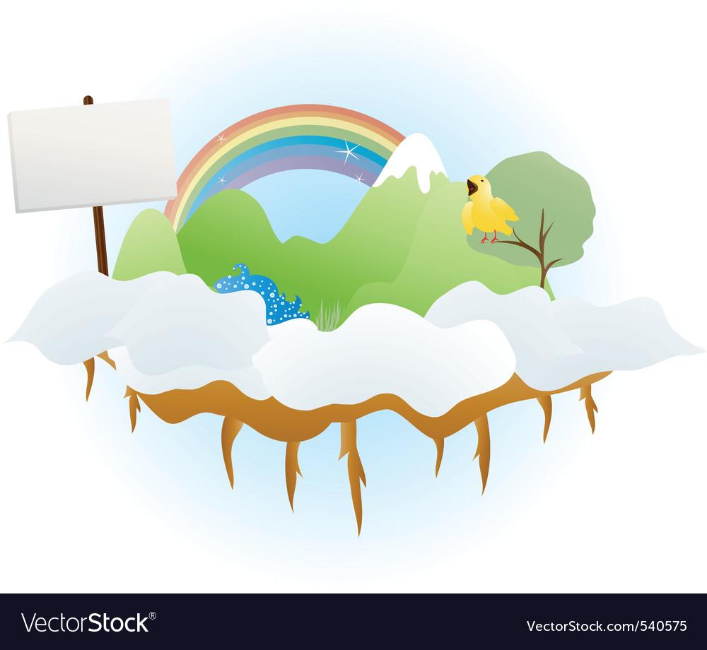 Cloud land vector | Price: 1 Credit (USD $1)