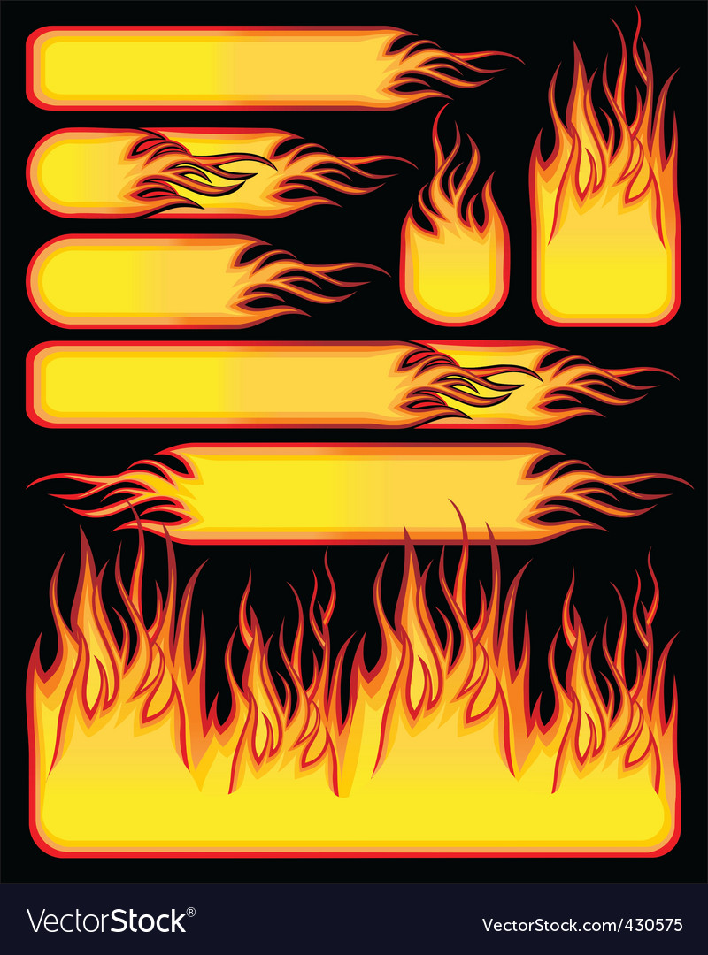 Fire symbols vector | Price: 1 Credit (USD $1)