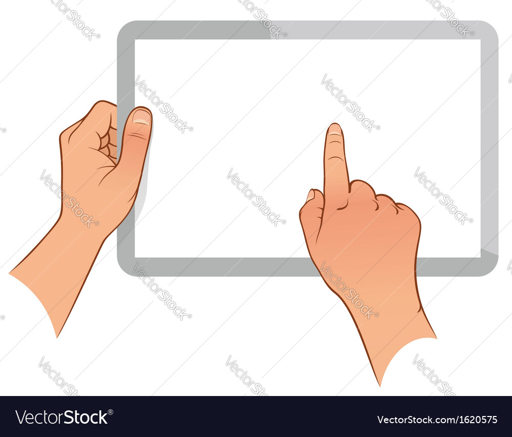 Hand holding a touchpad ps vector | Price: 1 Credit (USD $1)