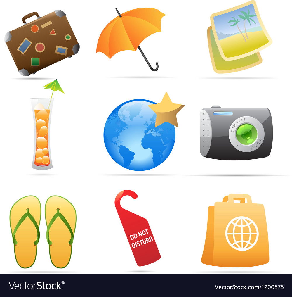 Icons for resort vector | Price: 1 Credit (USD $1)