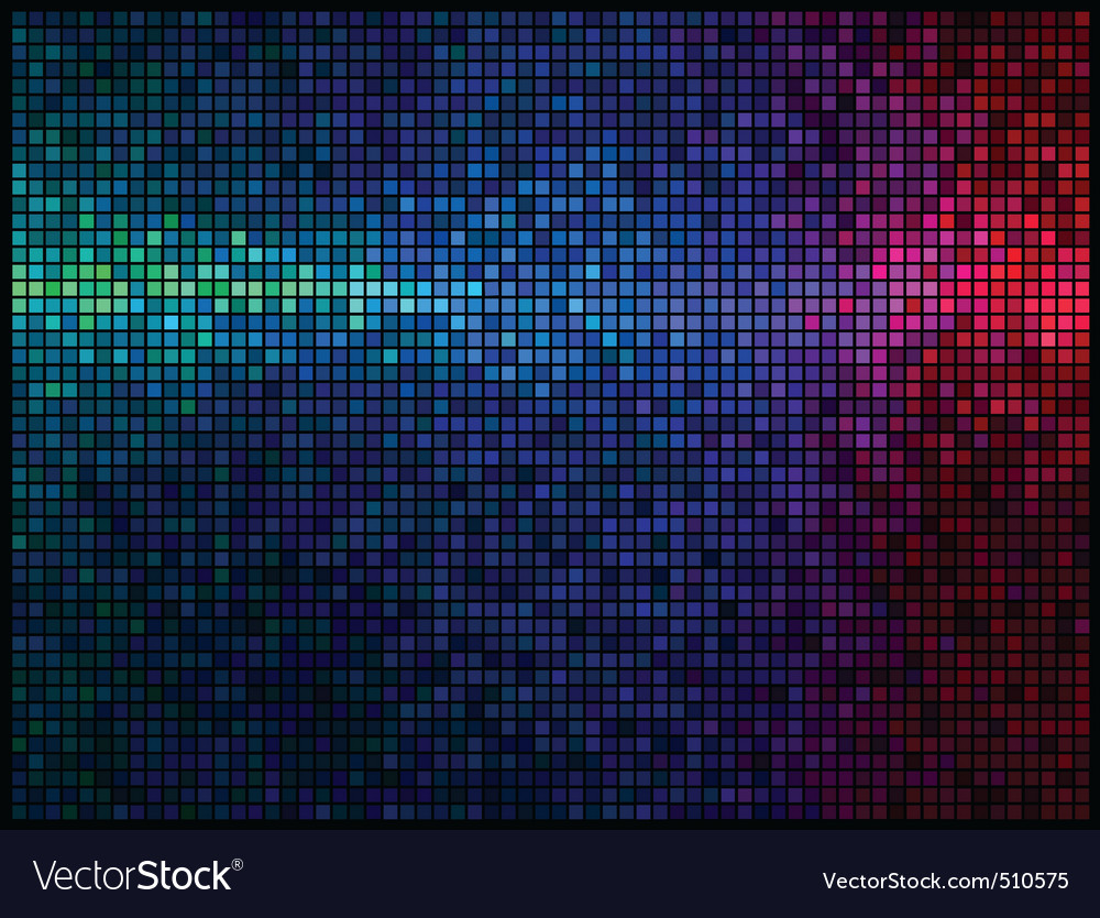 Multicolor abstract lights disco background square vector | Price: 1 Credit (USD $1)