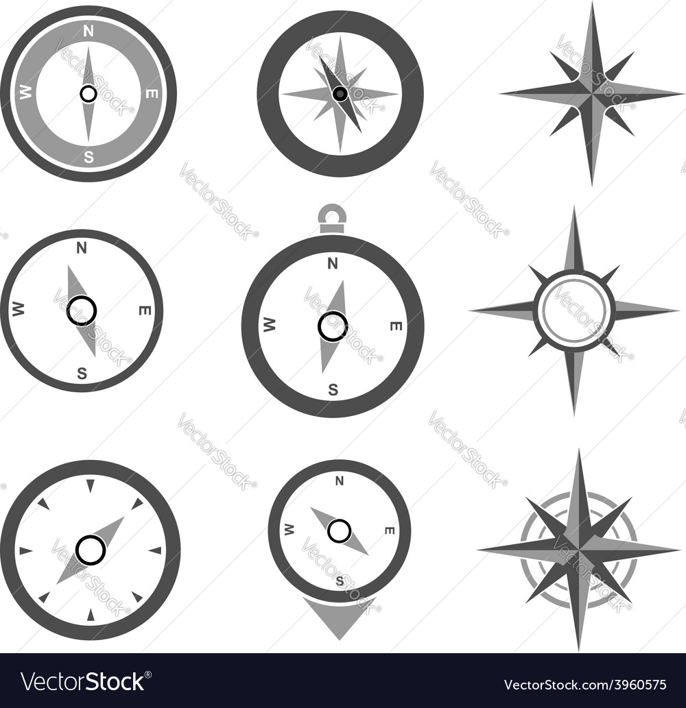 Navigation compasses vector | Price: 1 Credit (USD $1)