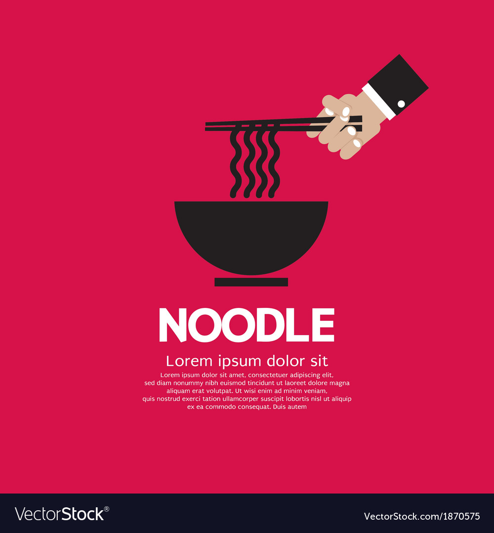 Noodles eps10 vector | Price: 1 Credit (USD $1)
