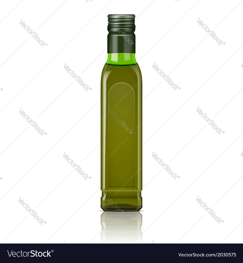 Olive oil bottle template vector | Price: 1 Credit (USD $1)