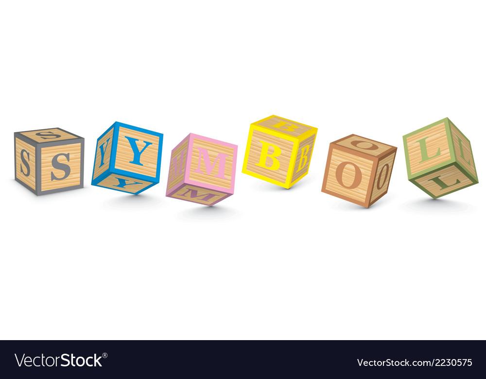 Word symbol written with alphabet blocks vector | Price: 1 Credit (USD $1)