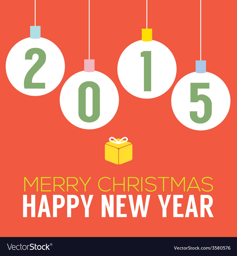 2015 happy new year card vector | Price: 1 Credit (USD $1)