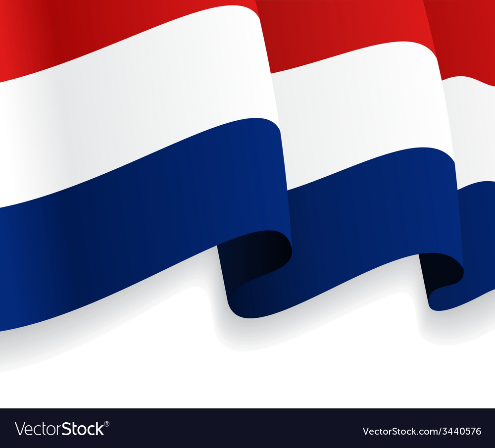 Background with waving dutch flag vector | Price: 1 Credit (USD $1)