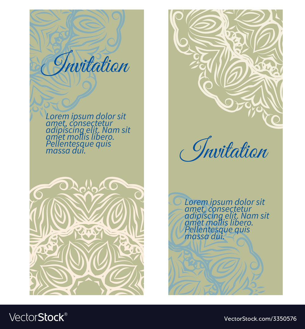 Banners invitation style retro vintage vector | Price: 1 Credit (USD $1)