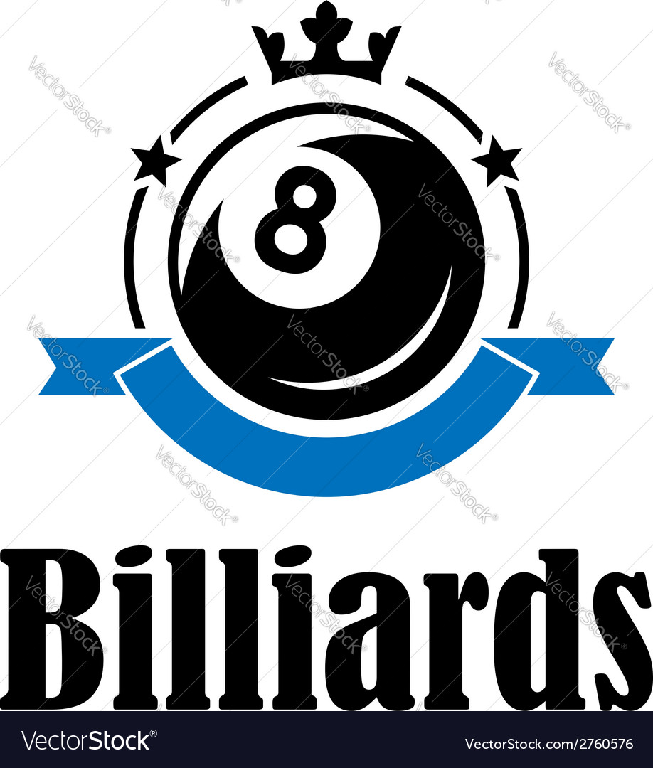 Billiards and pool emblem vector | Price: 1 Credit (USD $1)