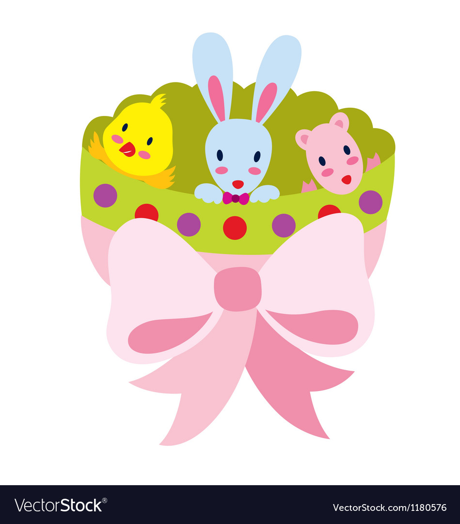 Bunny and friends vector | Price: 1 Credit (USD $1)