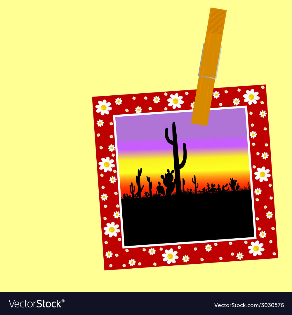 Cactus in the picture with a clip vector | Price: 1 Credit (USD $1)