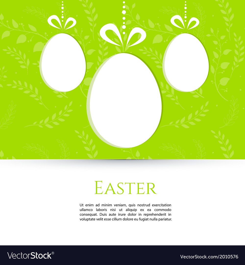Easter design template vector   Price: 1 Credit (USD $1)