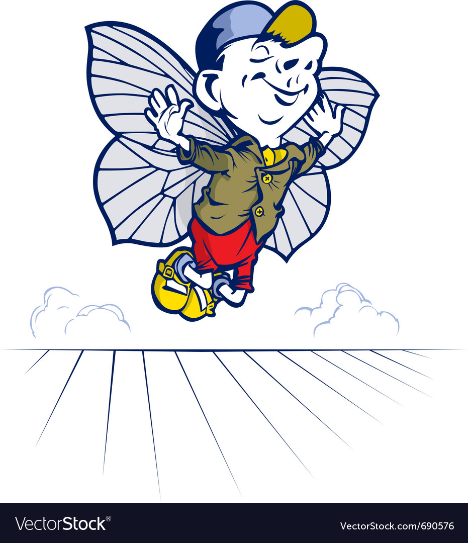 Fairy tale boy butterfly vector | Price: 3 Credit (USD $3)