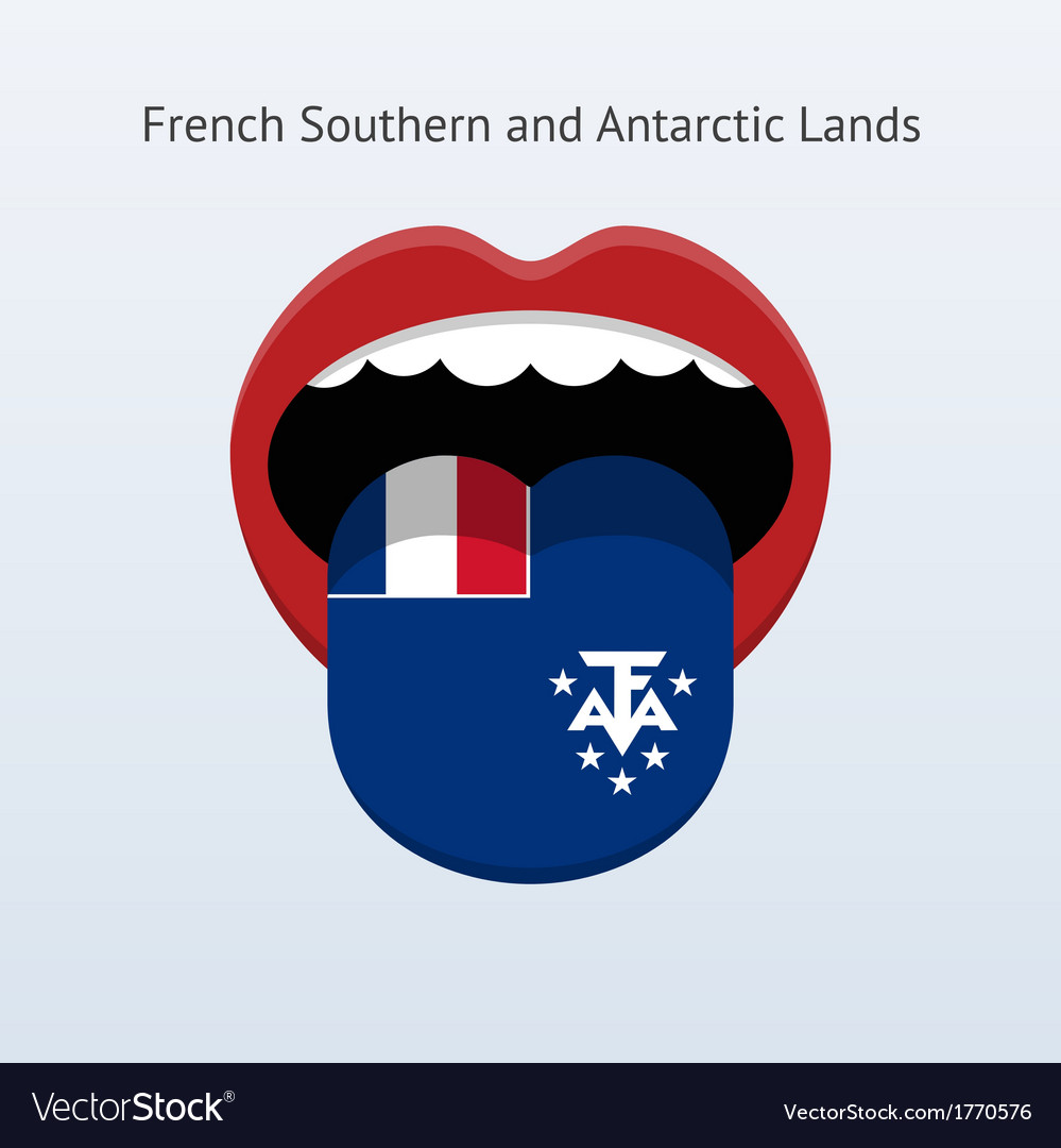 French southern and antarctic lands language vector | Price: 1 Credit (USD $1)