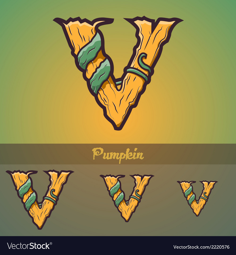 Halloween decorative alphabet - v letter vector | Price: 1 Credit (USD $1)
