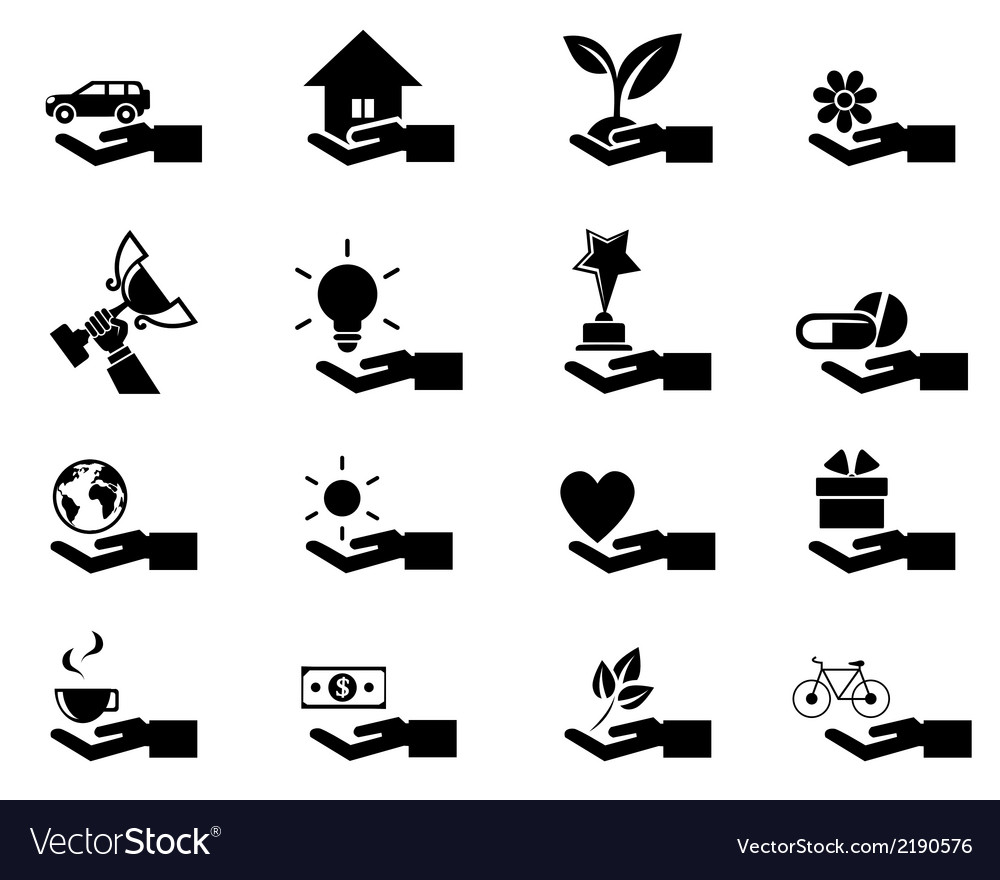 Hand concept icons eps 10 vector | Price: 1 Credit (USD $1)