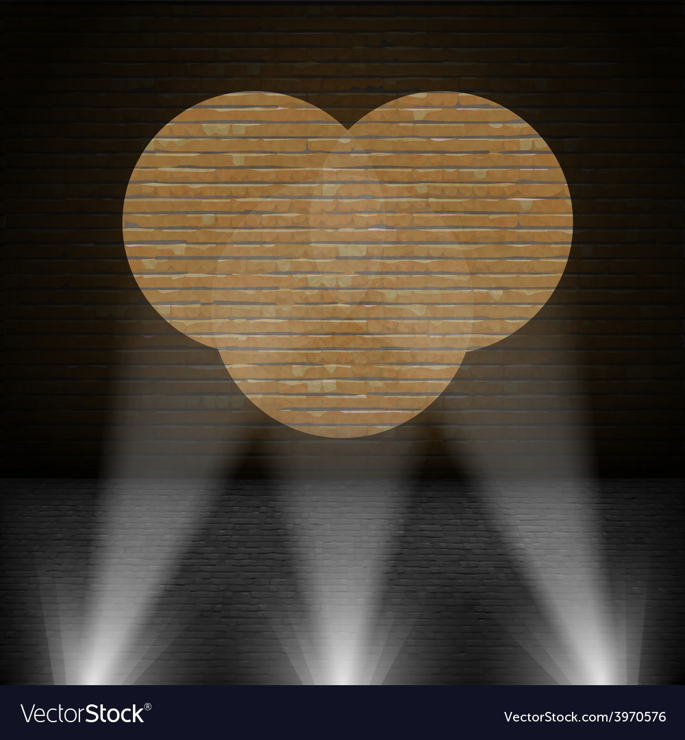 Lanterns beam on brick wall vector | Price: 1 Credit (USD $1)