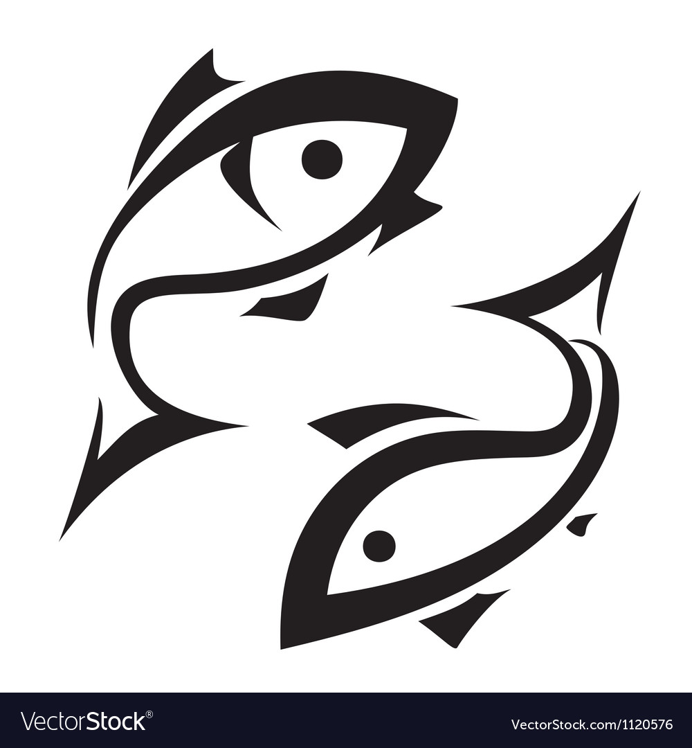 Logolike fish symbol isolated icons set vector