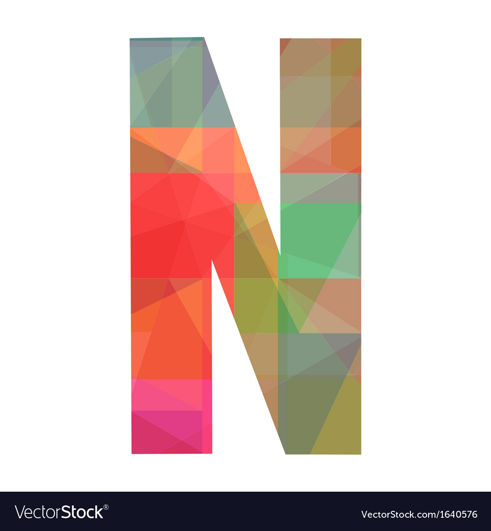 N alphabet vector   Price: 1 Credit (USD $1)