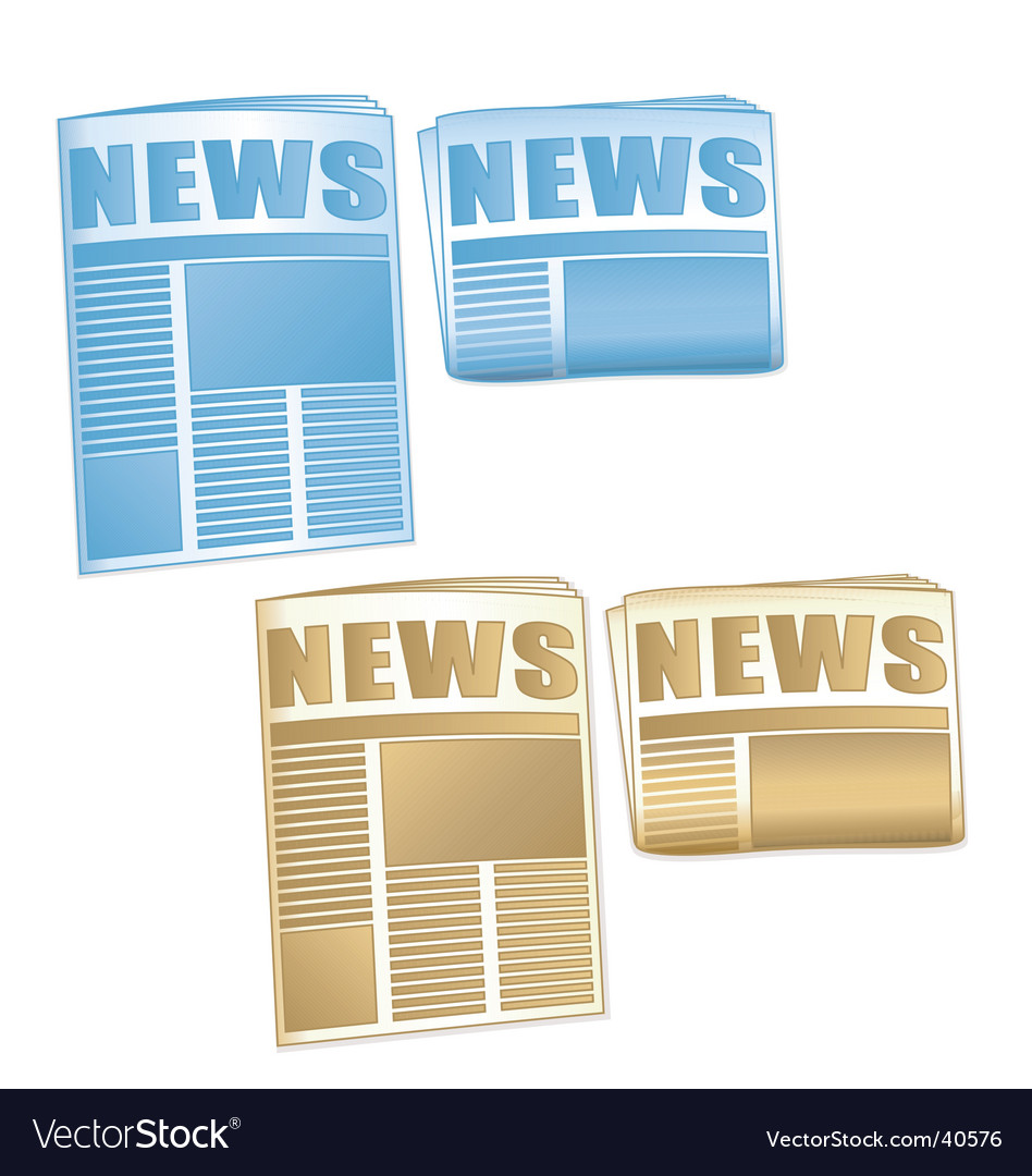 Newspaper icons vector   Price: 1 Credit (USD $1)