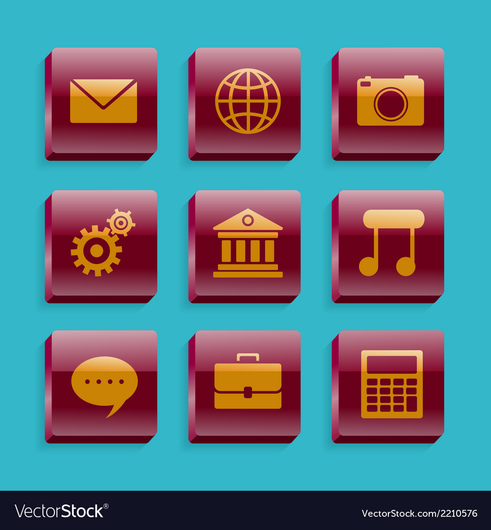 Set of basic icons vector | Price: 1 Credit (USD $1)