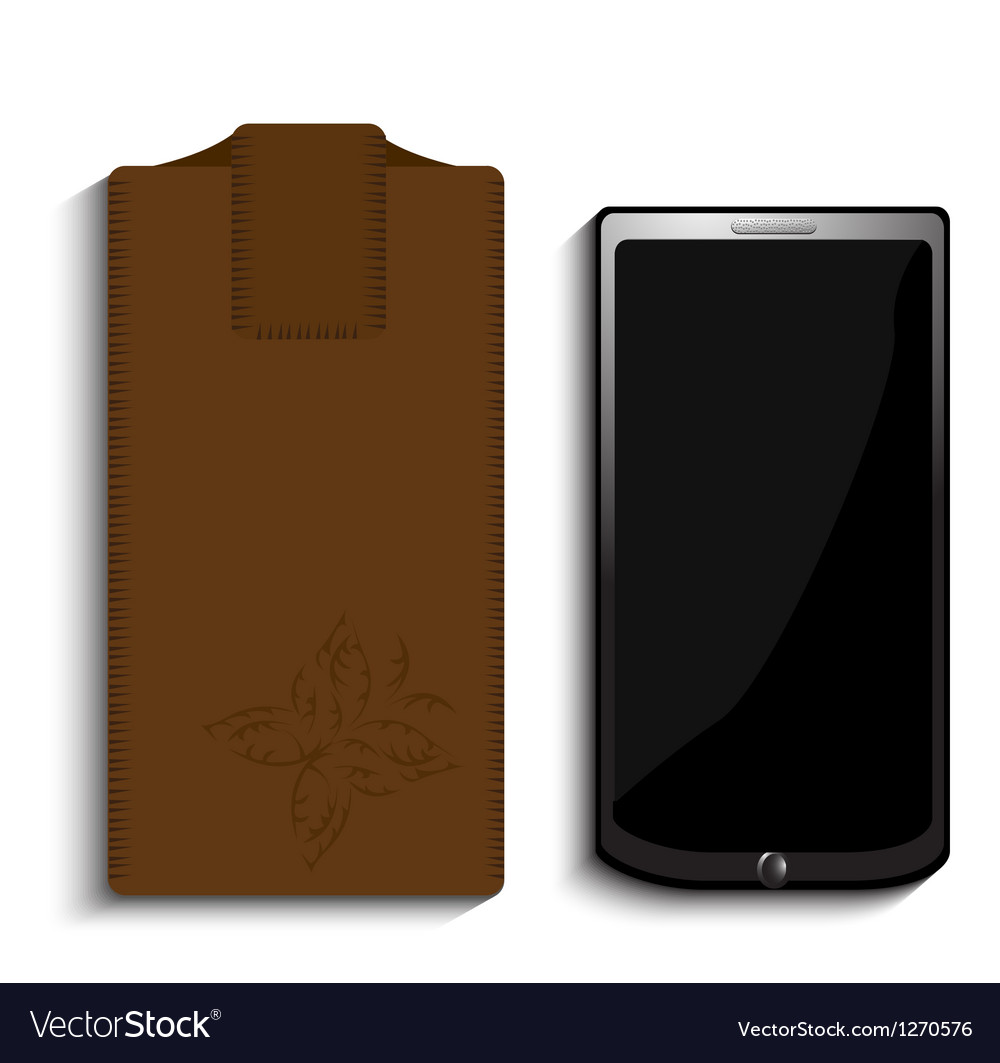 Smart phone and case vector | Price: 1 Credit (USD $1)